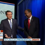 2016 Trump and Carson wait together