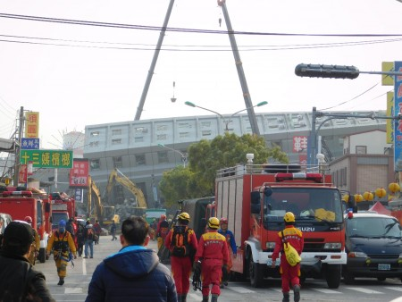 Rescue workers on the move