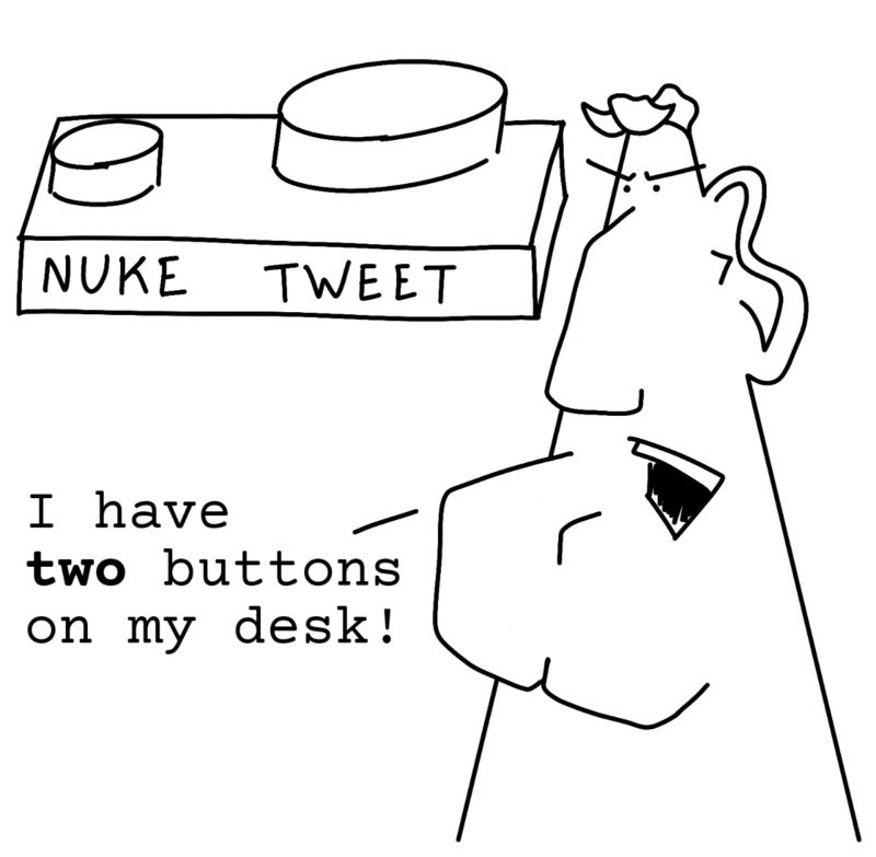I have two buttons on my desk!