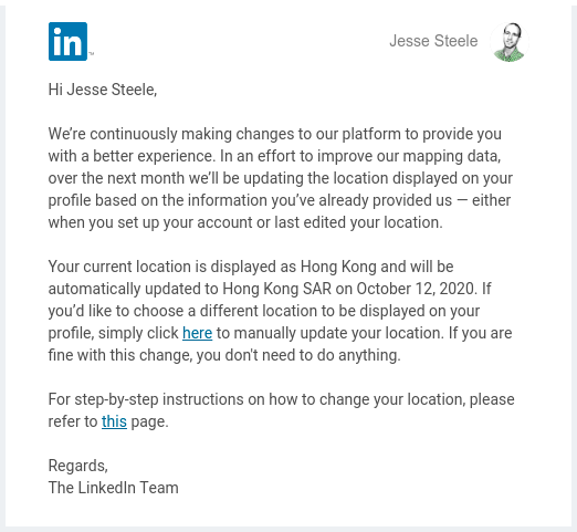Linked-In email